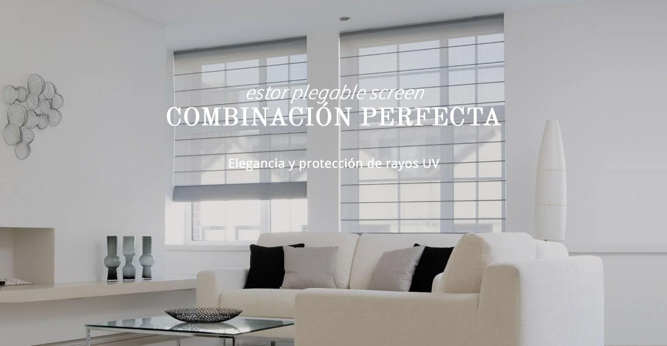 Cortinas de Varillas con Tejido Screen