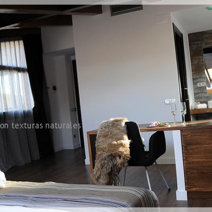 Telas Ignífugas para Hoteles con texturas naturales.