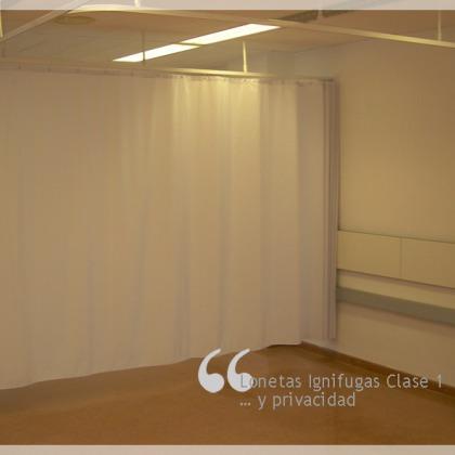 Lonetas Ignífugas Clase1 que dan privacidad.